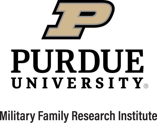 purdue university logo, military family research institute